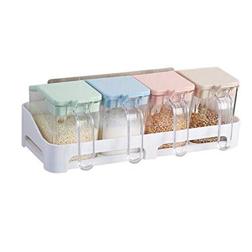 spender Gewürzspender aus Kunststoff, für die Küche, geeignet zum Würzen, Zucker, Salz Küchenständer Größe: 14 x 5 x 5 Zoll. Die Sicherheit 14 * 5 * 5 inch ()