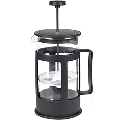 Black French Press Cafetiere Filter Coffee Tea Maker Teabag Plunger Mixer Glass Pitcher 600ml Travel Home Office by Sohler By Eurotrade W Ltd