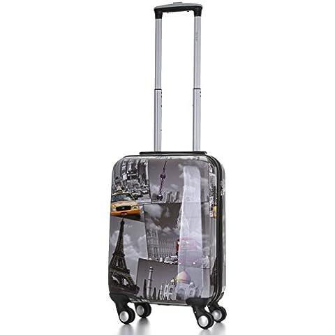 5Cities–Carcasa rígida de policarbonato de 4ruedas Spinner casos para carrito de equipaje maleta de viaje con TSA Aprobado 3Dígitos Candado de combinación