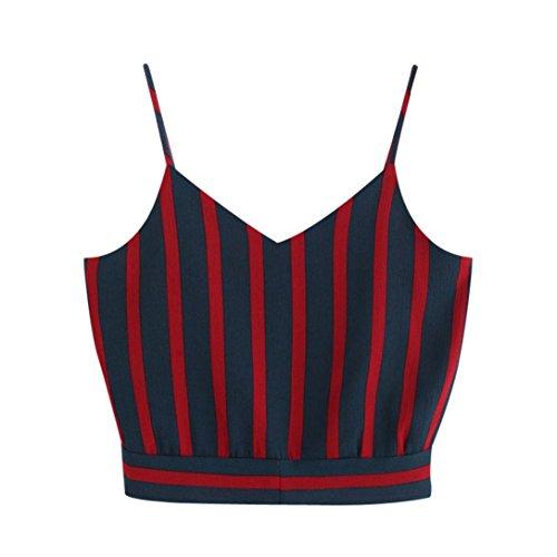 TUDUZ T-Shirt Damen Sommer Damen V-Ausschnitt Blumendruck Crop Top Leibchen Bluse (Marine-C, S)