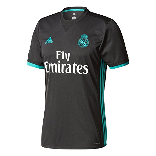 adidas Camiseta Real Madrid Temporada 2017/2018 2ª equipación, Hombre, Negro, XXL