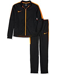 Nike y NK DRY Acdmy TRK Suit K Chándal, Unisex Niños, Negro (Black/Black/Cone/Cone), L