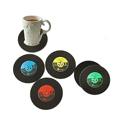 6 Pcs Retro Vinyl Cd Schallplatten Untersetzer Fr Kaffee Drink Trinkbecher Robustes Anti Rutsch Matte