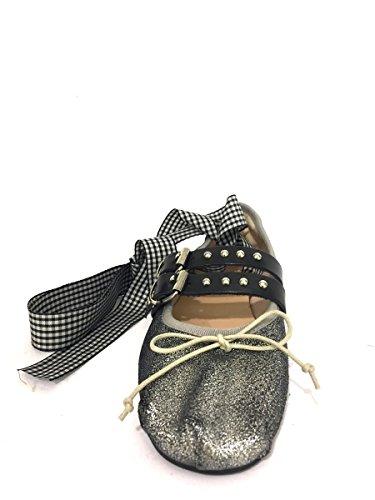 Ballerine DV-bibi-43 Divine Follie borchiate laccio caviglia MainApps Argento