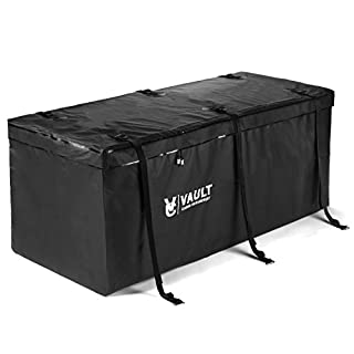Tow Bar Carrier from Vault Cargo – Heavy duty weather-resistant cargo carrier bag to conceal and protect your cargo. Robust size of 425 Liters storage capacity – (150 cm x 50 cm x 50cm)