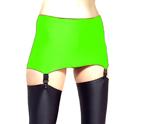 a3481d3e6e3 Madame Fantasy High Waisted Shiny Fluorescent Spandex Pull on Suspender Belt  (XXX-Large