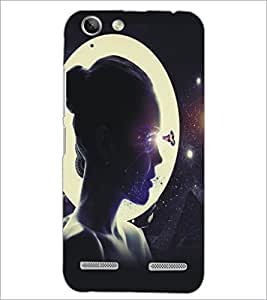 PrintDhaba Moon Girl D-5422 Back Case Cover for LENOVO VIBE K5 PLUS (Multi-Coloured)