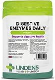 Lindens Compresse giornaliere di enzimi digestivi   90 Confezione   Contiene betaina HCL, papaina, amilasi e lipasi che favoriscono la digestione