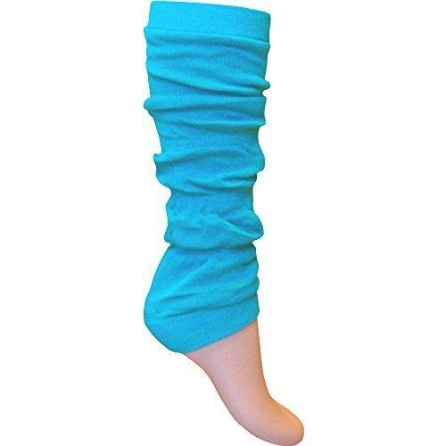 Damen & Mädchen Leuchtend Fluoreszierend Neon Stretch Fit Comfort Ankle Bein Wärmer - Damen, Türkis, Elastische Passform (Stretch-knit-bein-wärmer)