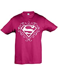 Superman - Girlie Logo T-shirt for kids - Officially licensed tee - Cotton - Pink