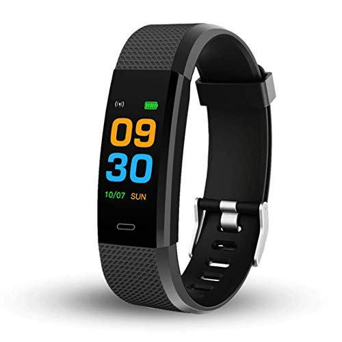 Techstream ID115 Bluetooth Smart Fitness Band Watch for Men/Women with Heart Rate ActivityTracker Waterproof Body | Steps and Calorie Counter, Blood Pressure, Distance Measure, OLED Touch Screen