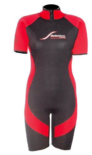 Scubatec 4mm Damen Shorty, schwarz-rot, 38 (M)