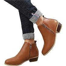 modelli di grande varietà ottima qualità vendita professionale stivali donna tacco basso - Marrone - Amazon.it