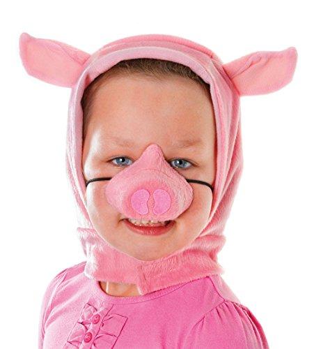 ing Anzug Verkleidung Set mit Kaputze und Nase (Schwein Anzug)