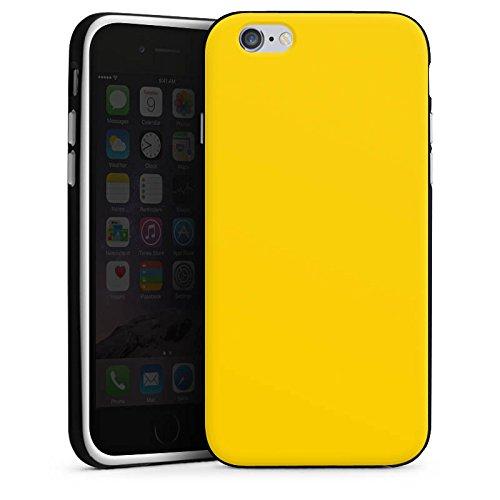 Apple iPhone 4 Silikon Hülle Case Schutzhülle Gelb Sonnengelb Frühling Silikon Case schwarz / weiß