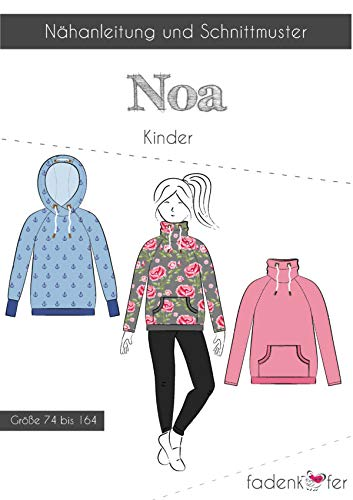 Schnittmuster und Nähanleitung - Kinder Pullover - Noa