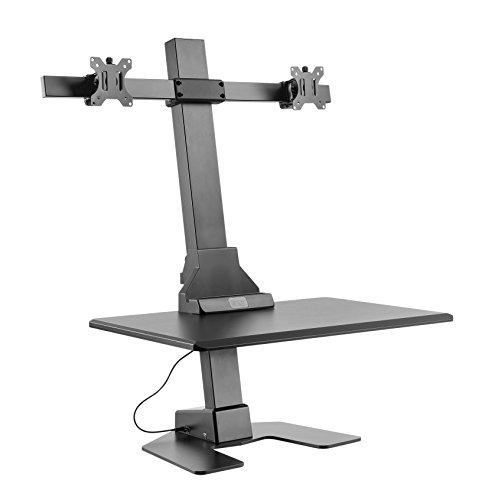 VonHaus Doppeltes Elektrisches Monitor Riser | Steh-Sitz-Ergonomische Schreibtisch/Workstation |...