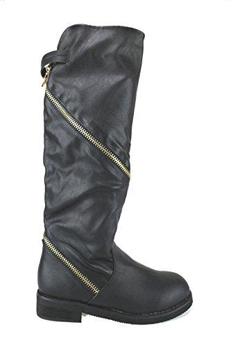 FRANCESCO MILANO AJ596 stivali donna pelle nero (38 EU)