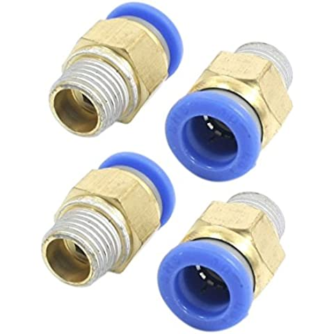 4 PIEZAS 1/4PT a 10mm Aire Neumático Acoplador Rápido Articulación Adaptador Conector