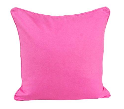 Homescapes dekorative Kissenhülle Plain Colour, pink, 45 x 45 cm, Kissenbezug mit Reißverschluss aus 100% reiner Baumwolle