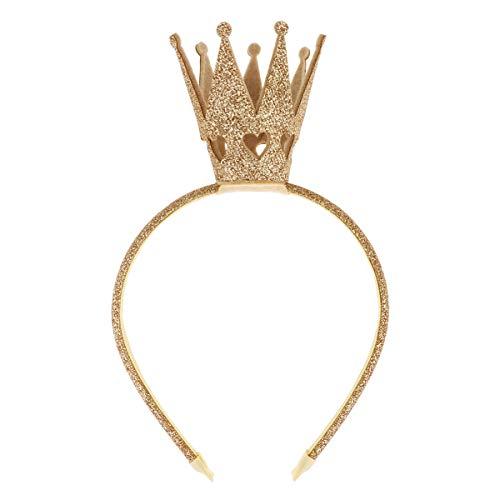 FEESHOW Erwachsene Kinder Prinzessin Krone Weihnachten Fasching Karneval Feen Kostüm Party Haarreif Haarband Accessoires Gold One Size (König Neptun Kostüm Kind)