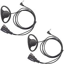 Coodio M1HS4 Motorola TLKR Radio Auriculares 1 Pin Forma D Micro-Auricular Micrófono Policía Seguridad y Bodyguard Para 1-Pin Motorola TLKR Plug Walkie-Talkie Transceptor Emisor y Receptor PMR - Par