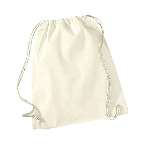 Westford Mill Cotton Gymsac, Natural, 46 x 36 cm