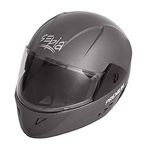 Sepia Premium Rider Full Face Helmet (Metallic Grey, M)