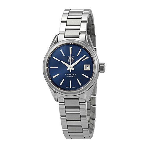 Tag Heuer Carrera Calibre 9 orologio automatico da donna con quadrante blu WAR2419.BA0776