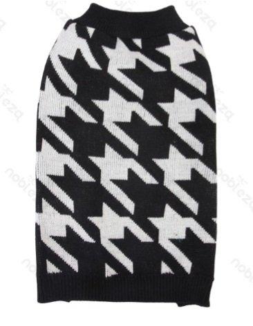 FORPET® 024742 Maglione Nero per Cani, taglia XL, maglione per cani bianco e nero a fantasia , maglione per cane.-