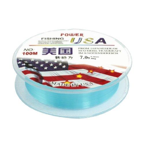 sourcingmap® #7 0,45 mm de diamètre 100 m de fil 30 kg 66.1lb Bobine de fil de pêche-Bleu