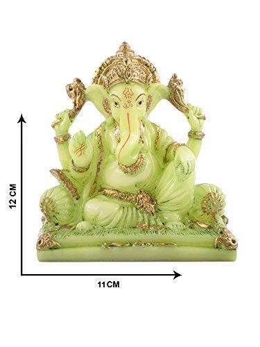 Affaires Radium Glow Ganeshji, Ganesh, Ganpati Murti Idol statua scultura per auto/ufficio decorazione, regalo ideale per la vostra amata 12cm x 11cm g-461 - Scultura Auto