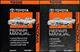 1998 Toyota Tacoma Repair Shop Manual Original Set