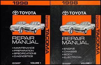 1998-toyota-tacoma-repair-shop-manual-original-set