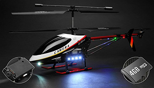 "RC Helikopter UDI U12A 3 Kanal Helikopter Giant Scale 30"" Metal Version mit w/Camera mit 4GB Memory Card"