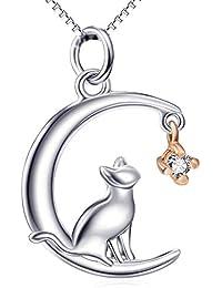 Collares Pendientes Amuletos De Plata De Ley 925 / Colgante De Estilo Múltiple, Moda Joyeria