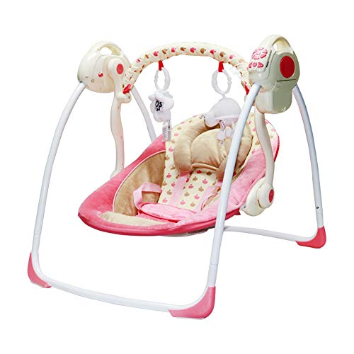 Baby Schaukelstuhl elektrische Schaukel Baby Multifunktions Schaukelstuhl Liege Neugeborenes Kind Schlaf Wiege-Style4 - Eisen-baby-wiege