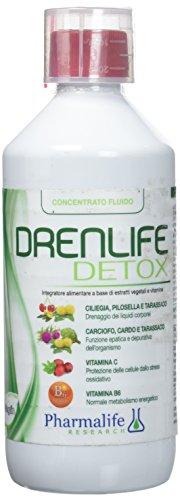 Pharmalife Research Drenlife Detox Integratore Alimentare a Base di Estratti Vegetali e Vitamine - 500 ml