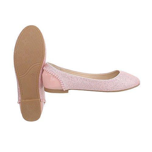 Scarpe da donna Ballerine tacco a blocco Ballerine classiche Ital-Design Rose
