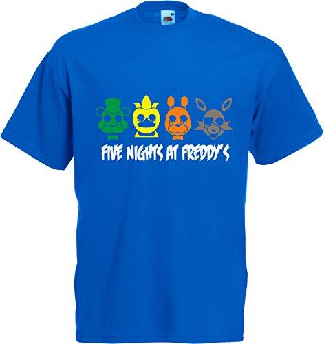 Fruit of the Loom Herren T-Shirt Blau