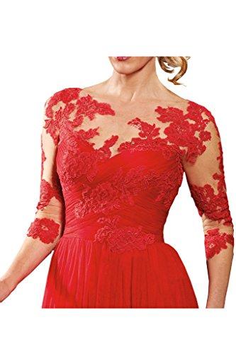 Victory Bridal - Robe - Trapèze - Femme Rouge - Rouge