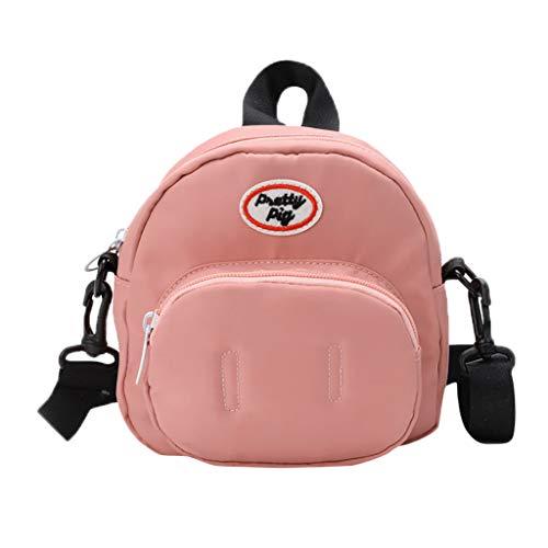 Mitlfuny handbemalte Ledertasche, Schultertasche, Geschenk, Handgefertigte Tasche,Kinder süße Schwein Wild Bag Schulter Messenger Coin Purse Pack für (Rice Kinder Kostüm)