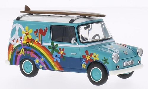 Preisvergleich Produktbild VW Typ 147 Fridolin, mit Surfboards, türkis/weiss, Modellauto, Fertigmodell, Premium ClassiXXs 1:43