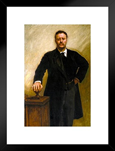 Poster Gießerei John Singer Sargent Theodore Teddy Roosevelt Rough Rider Print Kunstdruck 20x26 inches Matted Framed Poster