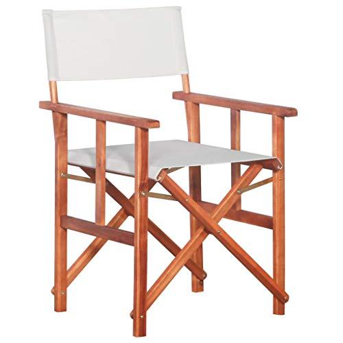 Festnight- Regiestuhl Campingstuhl Faltbar Angler Stuhl Faltstuhl Deck Chair Massives Akazienholz
