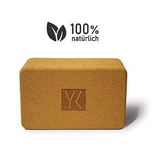 YOGAKLAR Yogablock aus Kork – schadstofffrei, 100% natürlich, nachhaltig – STARTKLAR für YOGA!