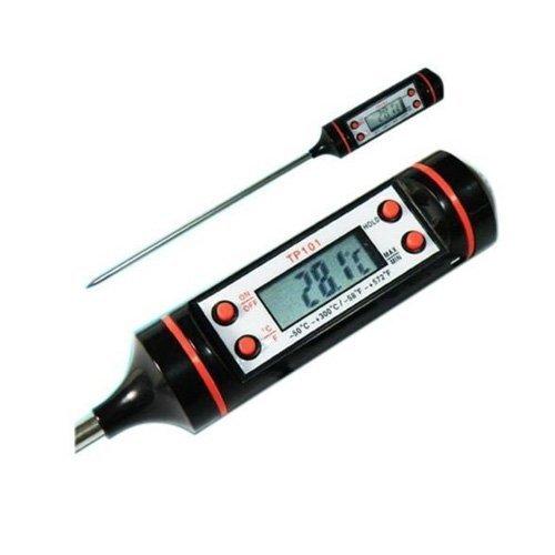 LCD-Digital-Lebensmittel-Thermometer mit Sonde, Gastronomie, edelstahl, schwarz, 23*2*2cm