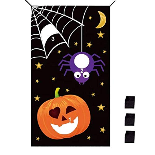 xmansky Für Weihnachten Halloween Party, Zuhause, Kamin, Hotel, Bar,Halloween-Kürbis-Bohnen-Beutel-Wurf-Spiele - Disco Wettbewerbs Kostüm