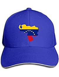 DIYoDGG Baseball Caps Venezuela Flag Map Unisex Sandwich cap Trucker Hat d53e329a4c75