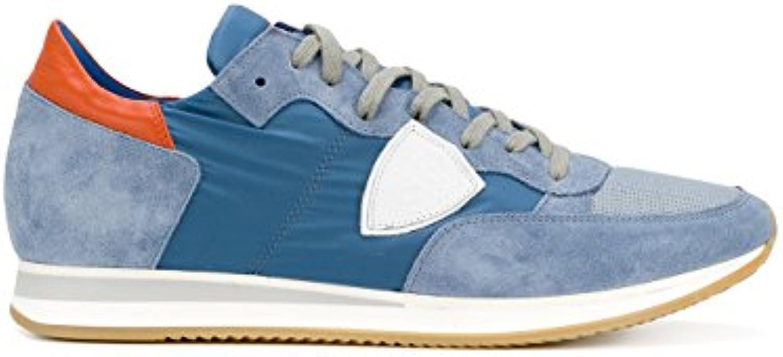 Philippe Model Hombre TRLU1104 Azul Gamuza Zapatillas  -